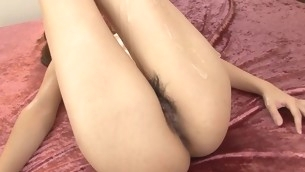 Sweet hole of cutie stimulated by vibrator and banged hard