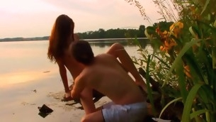 Watch top-drawer legal age teenager pounding interesting place in a catch nature