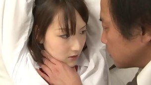 Unshaved dishevelled pussy of beauty from Asia is drilled nicely