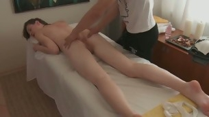 Taking darling gives awesome oral engulfing after massage
