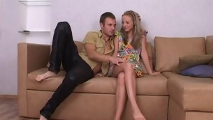 Cute gilt legal age teenager is luring beam into having putrefactive together with wild making love