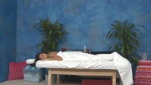 Blue eighteen year old hottie gets fucked hard from behind by her massage psychotherapist
