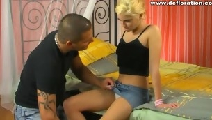 It is thrilling far plunge get under one's dick into tight innocent pussy