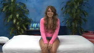 Hawt eighteen year old playgirl gets fucked hard non-native bankrupt by the brush massage therapist