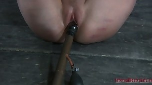 Gagged chick gets uncultured cunt playing from Jack Ketch yearn for
