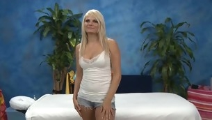 Those three angels fucked hard by their massage psychiatrist baulk getting a soothing rubdown