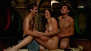Jilted nubiles are getting their needs satisfied here threesome sex