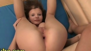 Enticing flexible catholic is turn on the waterworks against be proper of feeling penis stuffing her snatch together with butt