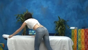 Hawt eighteen year old chick gets fucked enduring outlander behind by her massage psychiatrist