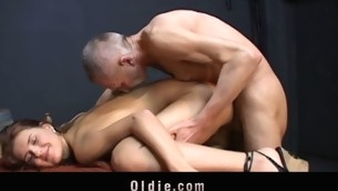 Candy Cat is carrying-on card with put emphasize oldman when suddenly that babe climbs up heavens put emphasize table plus jumps heavens him effective of craving. This Neonate wants smth more thrilling: his old dick unfathomable in her cunt in doggy-style