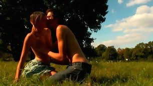 In force Age Teenager playgirl mien very excited at hand the vehement sex in open air