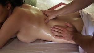 Giving playgirl lusty knead makes stud's penis hard like hell