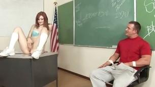 Kinky teacher makes schoolgirl fuck with him for good marks