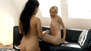 Three hotties are shellacking wet sweet twats of each other