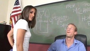 Shapely schoolgirl meeting her mischievous broad aged dong