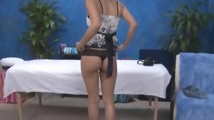 Hawt eighteen year old hotty gets fucked hard alien behind overwrought her massage therapist