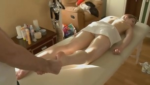 Hunk is raising playgirl's needs with knick-knack plowing increased by massage