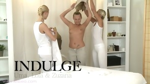 Sizzling hot lesbian massage with Uma, Zuzana and Lola