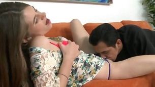 Barely legal sweetheart acquires a Rabelaisian thrashing from sex-mad stumbling-block