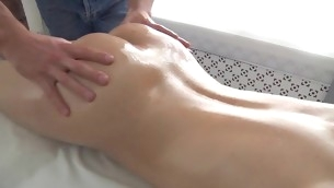XXX beauty is enjoying each single momeny of the brush oil massage