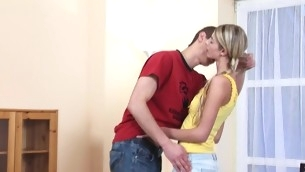 In force Age Teenager playgirl makes a oral and gets slit-licking yon pen up