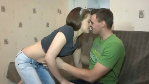 Hawt and filthy whore gets her portion of a wild muff-ramming