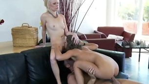 Sexual girl gets jizz on say no to face after sensual fucked in twat