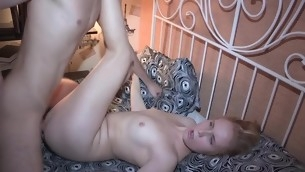 Hunk is stretching honeys gape hole with coarse hammering